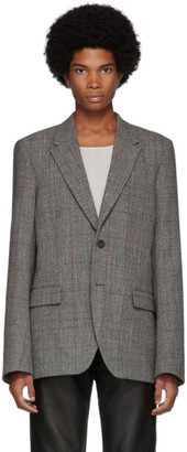 Helmut Lang Grey Prince Of Wales Blazer
