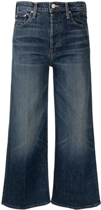 Mother High-Rise Wide-Leg Cropped Jeans