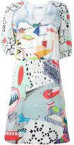 Tsumori Chisato balloon sleeve print dress - women - Silk/Cupro - 2