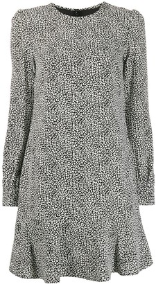 MICHAEL Michael Kors Cady leopard flounce dress