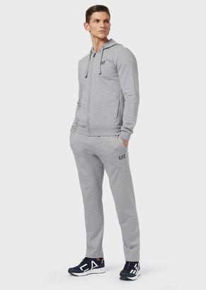 Ea7 Cotton Jersey-Fleece Tracksuit