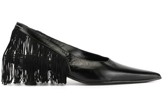 MM6 MAISON MARGIELA Fringed Slingback Pointed Toe Pumps
