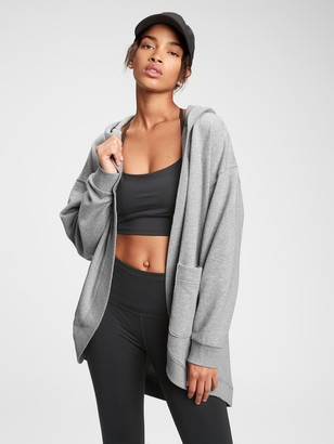 Gap Fleece Hooded Cardigan