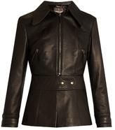Roberto Cavalli Point-collar leather jacket
