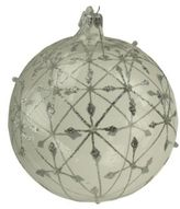 Briefing Ice Star Embellished Glass Ball Ornament