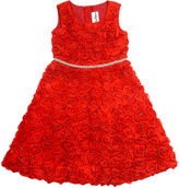 Rare Editions Girls 7-16 Rosette Dress