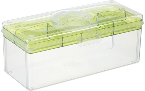 Container Store Large Hobby Box with Green Tray