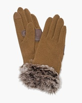 Chico's Glam Faux-Fur Gloves
