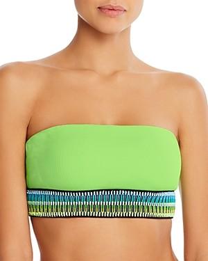 Peixoto Kiwi Kirra Ribbed Strapless Bikini Top