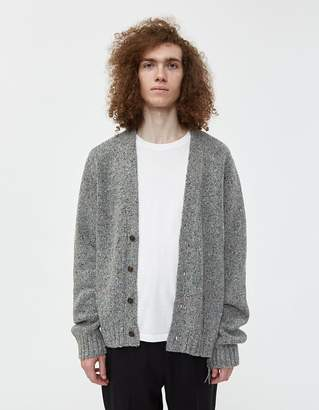 Maison Margiela Destroyed Donegal Cardigan in Grey
