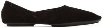 Haider Ackermann Black Suede Slipper Loafers