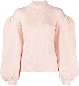 Fendi Puff-Sleeve Rollneck Jumper