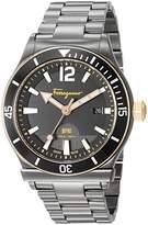 Salvatore Ferragamo Men's '1898 Sport' Swiss Quartz Stainless Steel Casual Watch, Color:Grey (Model: FF3320016)