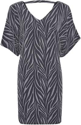 Dorothy Perkins Womens **Billie & Blossom Petite Silver Zebra Print Shift Batwing Dress, Silver