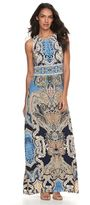 Petite Suite 7 Pleated Scroll Maxi Dress