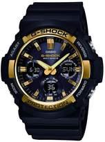 G-Shock Casio G Shock Casio G Shock Black Multi Dial Gold Bezel Resin Strap Mens Watch