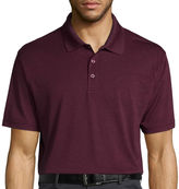 Haggar Short Sleeve Poly Polo T-Shirt