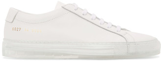 Common Projects White Transparent Sole Achilles Low Sneakers