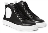 McQ Chris Panelled Leather High-Top Sneakers