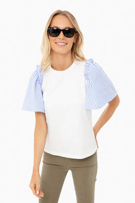 ENGLISH FACTORY Blue Stripe Mollie Blouse