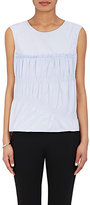 Nina Ricci WOMEN'S SMOCKED COTTON POPLIN SLEEVELESS TOP