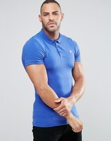Asos Muscle Fit Polo Shirt With Logo In Baleric