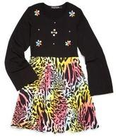 Flowers by Zoe Girl's Zebra-Printed Faux Leather Dress