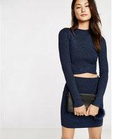 Express metallic sweater mini skirt