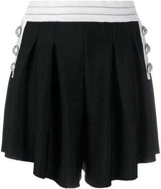Balmain High-Waist Knitted Shorts
