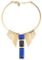Trina Turk Statement 14K Goldplated Brass Fringed Triple Pendant Necklace