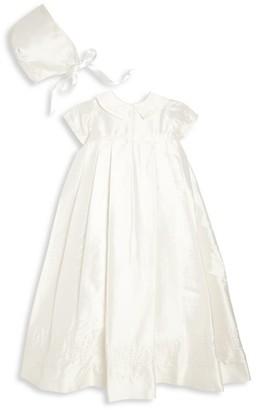 Isabel Garreton Baby's Embroidered Christening Silk Gown