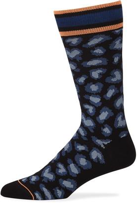 Paul Smith Men's Neon Leopard Socks
