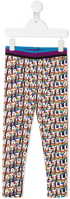 Stella Mccartney Kids Rainbow Logo Print Trousers