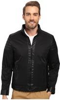Calvin Klein Faux Leather/Cotton Nylon Mix Media Jacket