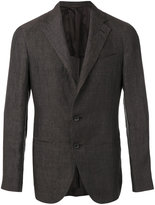 Caruso classic blazer - men - Linen/Flax/Cupro - 48
