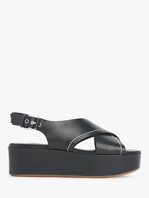 LK Bennett Sima Leather Flatform Sandals