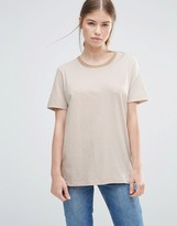 Wood Wood Dawn Nude Striped T-shirt