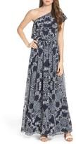 Vince Camuto Petite Women's One-Shoulder Maxi Dress