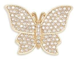 Vince Camuto Goldtone and Glass Stone Butterfly Brooch Pin