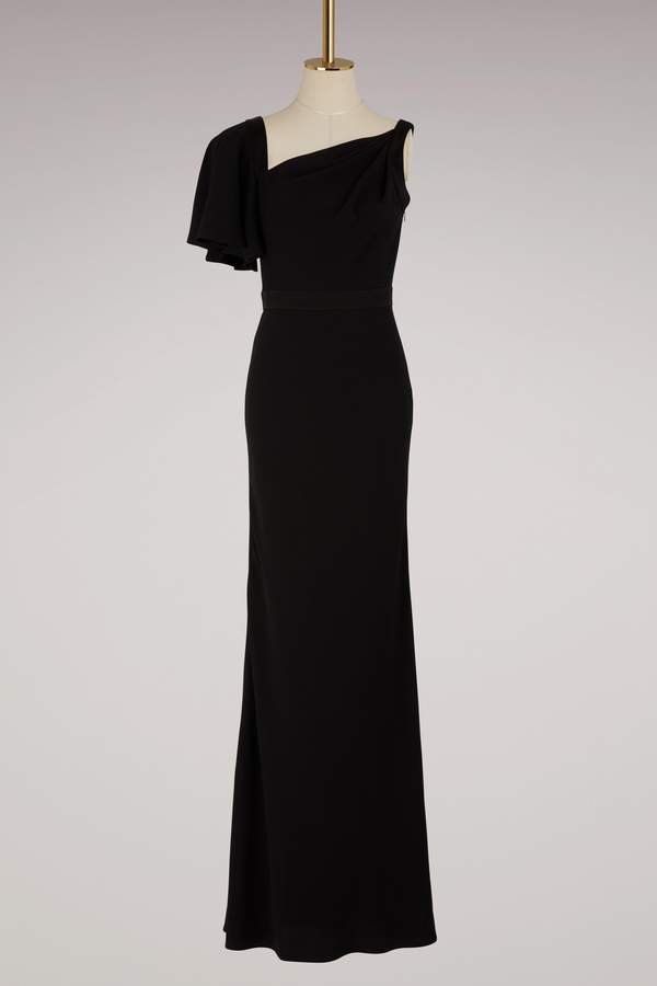 Alexander McQueen Asymmetrical maxi dress
