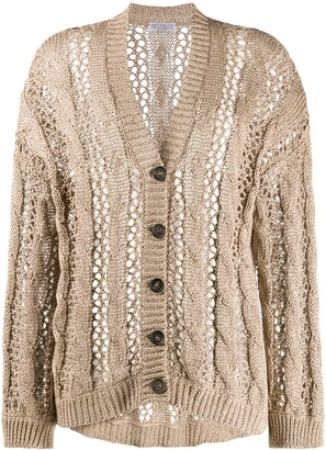 Brunello Cucinelli Slouchy Open Knit Cardigan
