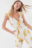 For Love & Lemons Limonada Tie-Front Jumpsuit