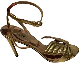 Valentino Gold Leather Sandals