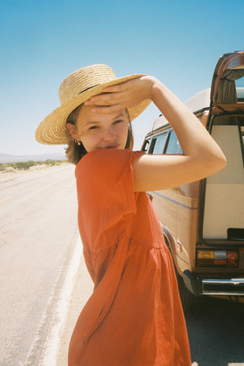 Urban Outfitters Straw Boater Hat