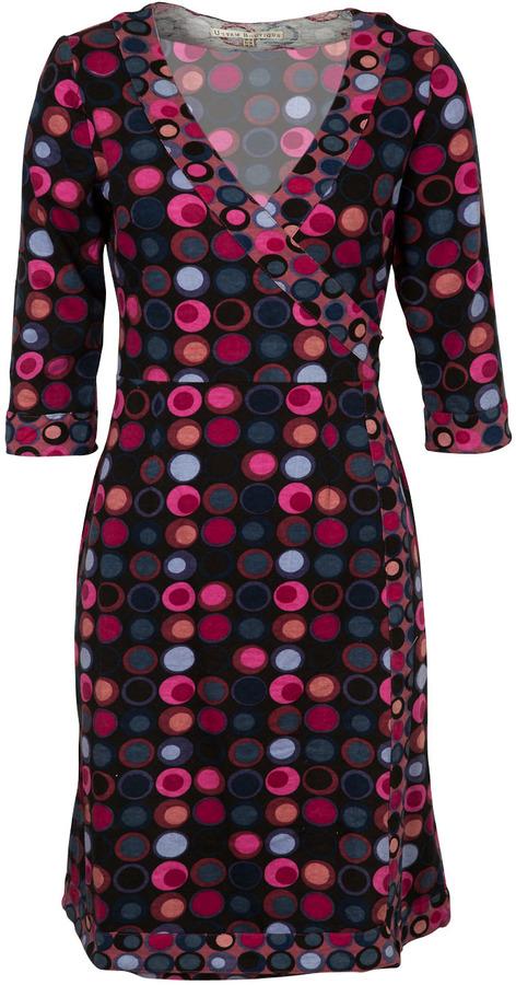 Uttam Boutique Vix Geo Print Jersey Wrap Dress