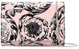 Versace 'Palazzo Medusa' patent foldover clutch