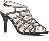 Caparros Harmonica Embellished Satin Caged High Heel Sandals