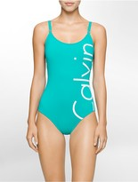 Calvin Klein Logo One-Piece Swimsuit