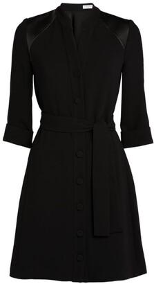 Claudie Pierlot Tie-Front Shirt Dress