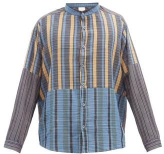 Marrakshi Life - Striped-panel Cotton-blend Shirt - Multi